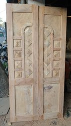 Designer hardwood double door