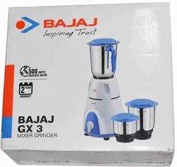 Bajaj Gx3 410176 500 W Mixer Grinder (3 Jars,white)