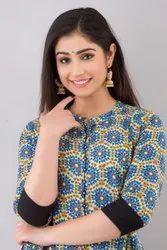 R.B.international Regular Cotton Kalidar Kurti, Size: M L Xl Xxl, Wash Care: Dry Clean