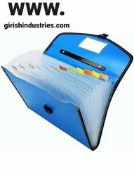 A4 Plastic Pockets Expanding File Folder