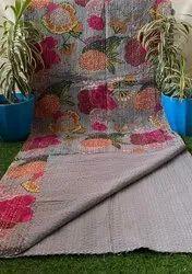 Fuit Print Kantha Bedspread
