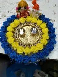 Ganpati Laxmi Statue Puja Thali