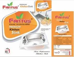 Single Glossy Fantus Kitchen Sink, For Home Appliances, Size: 16*18*8