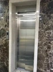 SS Hairline Finish Lift(600 Mm)SS 304 Automatic Telescopic Doors, For Home, Interior
