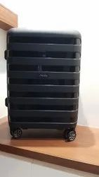 Black Polycarbonate Luggage Trolley Bag, Size: Cabin