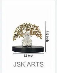 Silver Mat Tree Ganesh