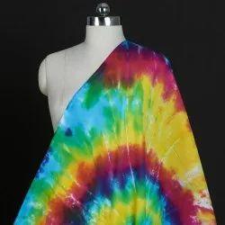 Rainbow Dyed Shibori Fabric