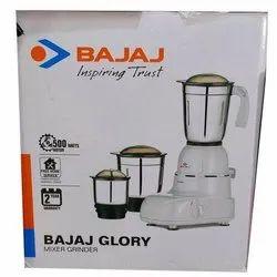 Bajaj Glory 500 Watt Mixer Grinder With 3 Jars White