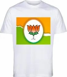 BJP Election T- Shirt 120 GSM Customized Election Campaign Promotional T-shirt