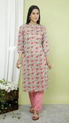 The Gavya Cotton Bagru Print Suit Set