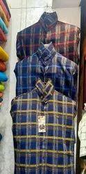 S.Smart Wear Checks Men Cotton Check Formal Shirt, Machine wash