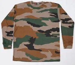Army Print Cotton T Shirt