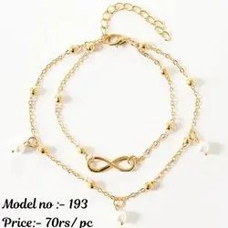 Alloy New Ladies Artificial Anklets