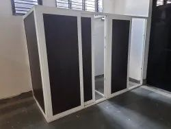 Toughened Glass Lever Handle White Upvc Door