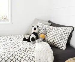 Hand Block Print Kantha Quilt With Pillowcase