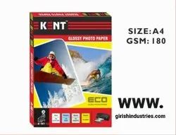 Glossy Photo Paper Kent 180gsm 20 Sheets