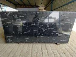 Pan India Fish Black Granite Slab, For Flooring, Thickness: 15-20 mm