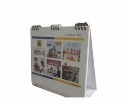 English Paper Custom Printed Table Calendars, For Office And Promotion