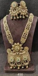 Golden Premium Quality Brass Temple Jewelry, Size: Standard