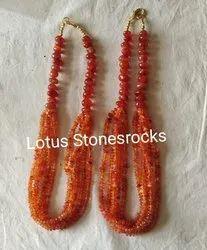 Carnelian Necklace Earrings Set