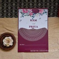 Invitation with wildflowers seed, 1 Leaflet