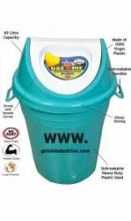 Plastic Wet And Dry Dustbin Capacity 60 L