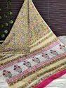 Bagru Hand Block Print Cotton Mulmul Saree