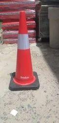 红色PVC边防橡胶基础安全锥,4.5千克