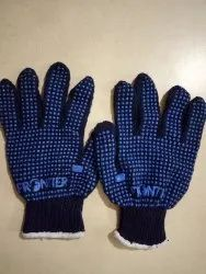 Cotton Knitted Dotted Gloves