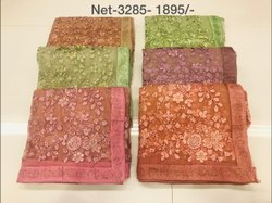 Embroidery Net Saree