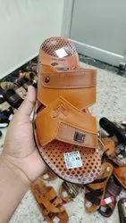 Black PU Sultan Daily Wear Gents Slippers Size 6-10