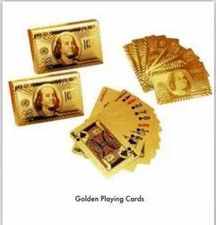24k Gold Plated Poker Playing Cards Gold
