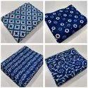 Indigo Hand Block Printed Cotton Fabric