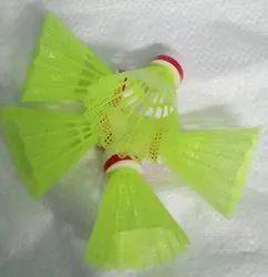 Badminton Shuttlecock Green Plastic shuttle cocks, Synthetic Non Feathered