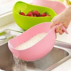 Vision Kitchenware Green,Pink Rice Bowl With Handle, For Home