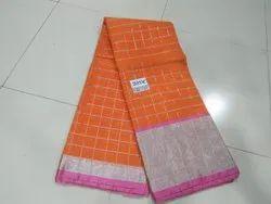Handloom Cotton Sarees Rich Pallu Body Embossed