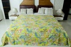 Fruit Print Kantha Bedcover