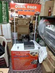 Quail/Kadai Egg Roasting Machine With Foldable  Table