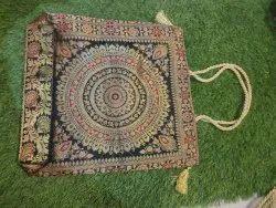 Banarasi couture Hand Handled Banarsi bags, Size: 16x16