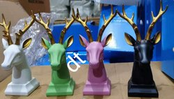 Craft City Green Majestic Deer With Golden Horns