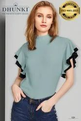 Casual Wear Half Sleeve Branded T Shirts For Girls