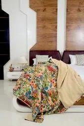 Jaipuri Kantha Bed Cover