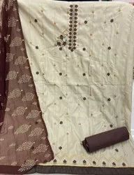 Embroidery Silk Suit