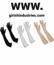 Cotton Hand Gloves White Free Size Unisex Soft Reusable Washable