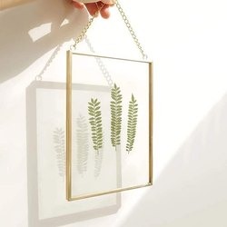 Golden Hanging Glass Photo Frame, For Decoration