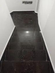 Brown Granite Steps Fixing Service