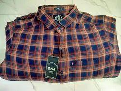 Mix Collar Neck Gents Check Shirt, Handwash