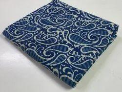 Cotton Block Printed Pure Cotton Fabric