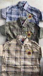 Multicolor Collar Neck Menz Cotton Checks Shirts, Machine Wash, Size: M-l-xl