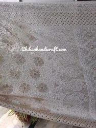 Designer Chikankari mukaish work saree